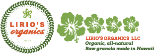 Lirio's Organics Raw Granola: Organic, all-natural raw, handmade in Hawaii